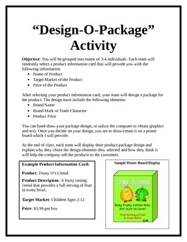How To Teach Branding, Packaging, and Labeling- Design O P