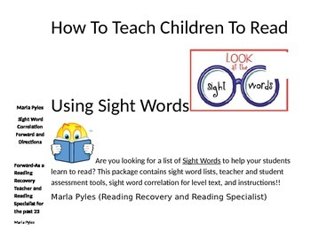 How To Teach Children To Read Using Sight Words