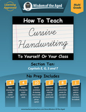 Cursive Handwriting Videos, Practice Pages, and More - Section 10