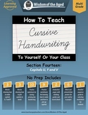 Cursive Handwriting Videos, Practice Pages, and More - Section 14