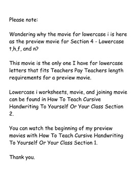 How To Teach Cursive Handwriting To Yourself Or Your Class Section 4