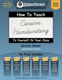 Cursive Handwriting Videos, Practice Pages, and More - Section 7