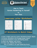 Handwriting Distance Learning - Lowercase Letters - Worksheets