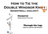 How To Tie The Double Windsor Knot - A Basketball Analogy