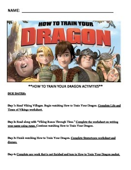 How To Train Your Dragon Activity
