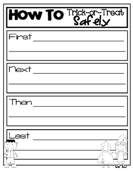 How To Trick or Treat Safely Writing Freebie