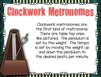 How To Use A Metronome: Powerpoint and Reproducible Printable