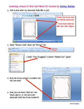 Free Tutorial How To Use Frames & Text in Microsoft Word