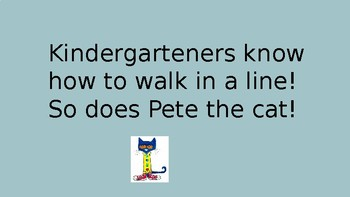 How To Walk In The Hallway with Pete The Cat