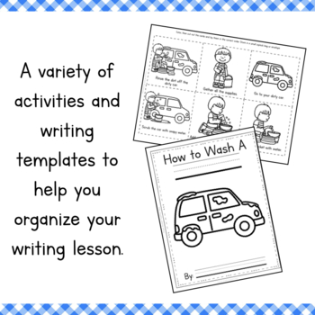 How To Wash a Car Writing and Sequencing Activity