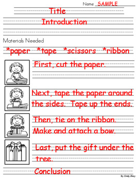 How To Wrap A Present ~ Writing