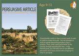 How To Write A Persuasive Article (Persuasive Writing Pack) 9-14