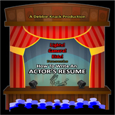 How To Write An Actor's Resume