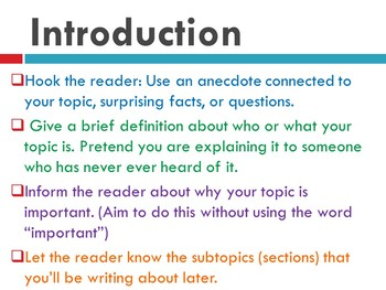 How To Write Nonfiction: Intro, Body, Conclusion Bundle!