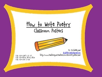 How To Write Poetry Classroom Posters