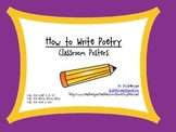 How To Write Poetry Posters and Task Cards Bundle