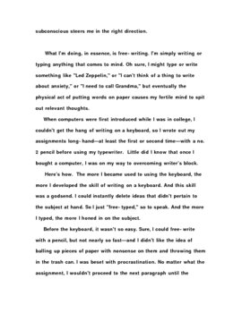 How to Write Quickly and Effectively