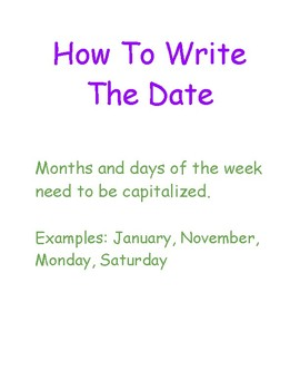 How To Write The Date Anchor Chart