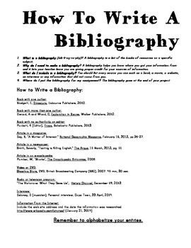 Do bibliography term paper
