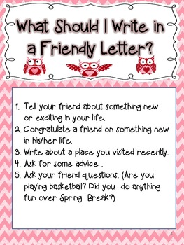 How To Write A Friendly Letter Valentine S Day Theme By