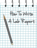 How To Write a Lab Report Printable!