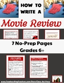 Informational Writing | How To Write a Movie Review | Worksheets