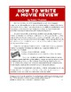 Informative Writing Fun: How To Write a Movie Review (6 pa