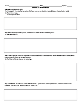 How To Write a NYS Regents DBQ Essay - Graphic Organizer