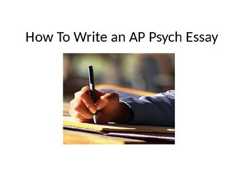 How To Write An Ap Psychology Frq Essay By Ashli Bertrand  Tpt How To Write An Ap Psychology Frq Essay