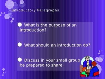 Writing an Introduction Power Point