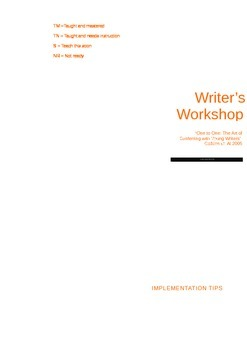 How-To Writer's Workshop (Lucy Calkins) Brochure/Guide for Teachers/Parents