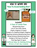 """How To Writing 6 Days of Writing Lesson Plans """"How to Avoid Getting Sick"""""""