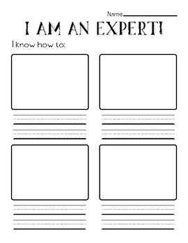 How-To Writing: I'm An Expert Graphic Organizer