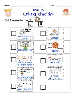 How To Writing Checklist
