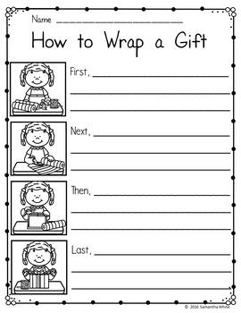How To Writing {Christmas Edition} FREEBIE