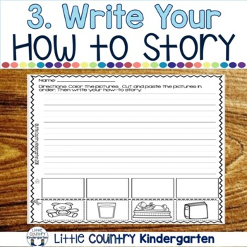 How To Writing Kindergarten Prompts: Cut, Paste, Write
