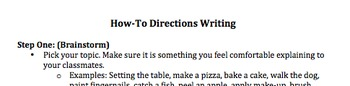 How-To Writing Directions