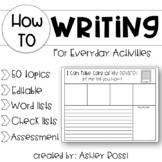 Informational Writing Templates - Everyday Activities