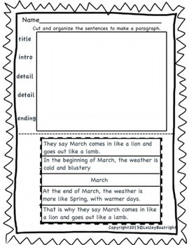 Paragraph Puzzles How To Writing For First Grade Bundle - January to May