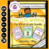 How To Writing For First Grade Paragraph Puzzles Bundle - January to May