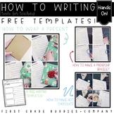 How To Writing Freebie | Christmas Writing | Winter Writing | Writing Templates