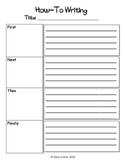 How-To Writing Graphic Organizers
