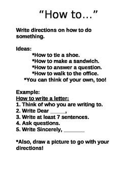 """How To"" Writing Guide-For Centers"