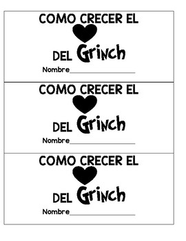 How To Writing  How To Grow the Grinch's Heart  SPANISH