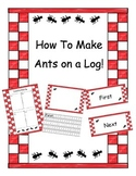 "How-To Writing, ""How To Make Ants On A Log!"""