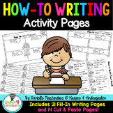How To Writing Pages- Cut & Paste Activity Pages Included