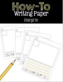 How To Writing Paper Kindergarten