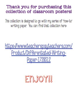 How-To Writing Posters