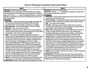 How-To Writing & Procedural Text Bundle!