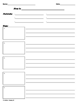 """""""How To"""" Common Core Writing Template"""